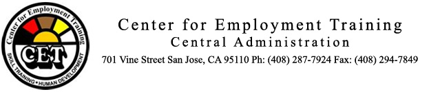 Center for Employment Training Header